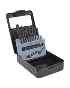 Sealey HSS Roll Forged Drill Bit Set 19pc 1-10mm