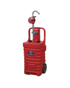 Sealey Mobile Dispensing Tank 55L with Oil Rotary Pump - Red