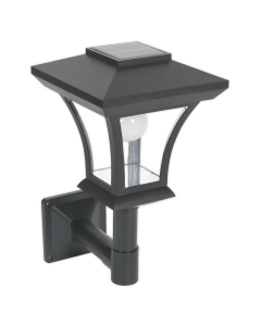Sealey Solar Powered LED Garden Lamp Wall Mounting