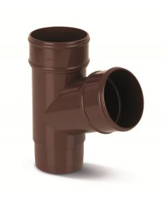 Eurocell - Gutter Round Pipe Branch 112 Deg 68mm Brown