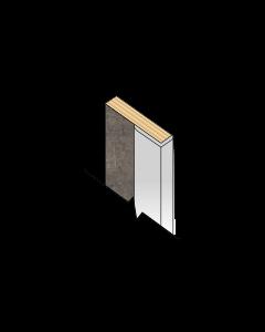 Fibo Kb L-Shaped Aluminium Profile 580mm Long Kitchen Profiles