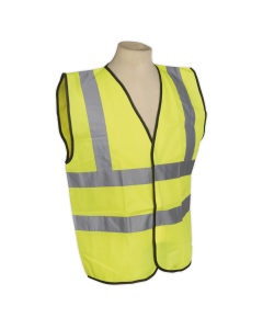 Sealey High Visibility Waistcoat EN ISO 20471 Extra-Large