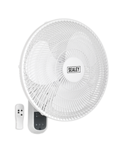 "Sealey Wall Fan 3-Speed 16"" with Remote Control 230V"