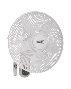 "Sealey Wall Fan 3-Speed 18"" with Remote Control 230V"