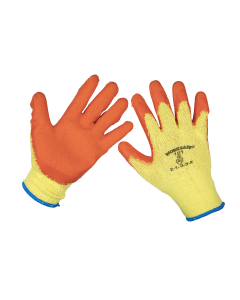 Sealey Super Grip Knitted Gloves Latex Palm (X-Large) - Pack of 6 P