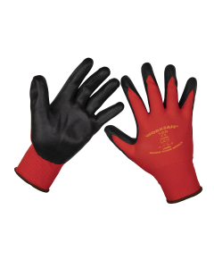 Sealey Flexi Grip Nitrile Palm Gloves (Large) - Pack of 6 Pairs