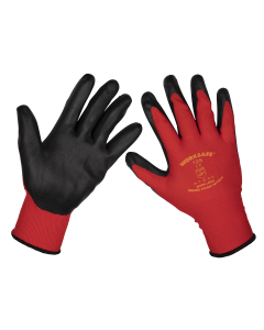 Sealey Flexi Grip Nitrile Palm Gloves (X-Large) - Pack of 6 Pairs