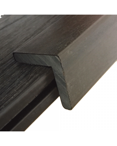 NewTechWood UltraShield Composite Decking Walnut 2.2m 40x40mm Angle Edging