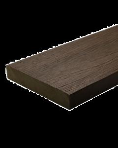 NewTechWood UltraShield Composite Decking Walnut 2.2m Square Edge Solid Board