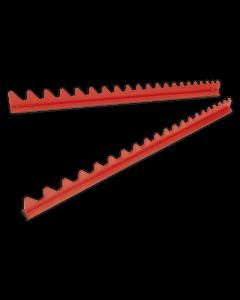 Sealey Sharks Teeth Spanner Rack Magnetic 2pc