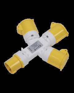 Sealey 2P+E 3-Way Adaptor 110V