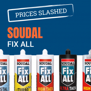 Soudal Fix All Range - Adhesives, Silicone, Sealant & Mastics