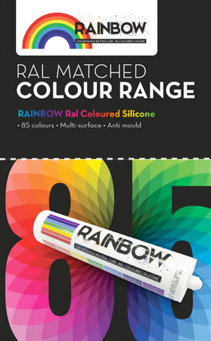 Rainbow Coloured Silicone Sealant
