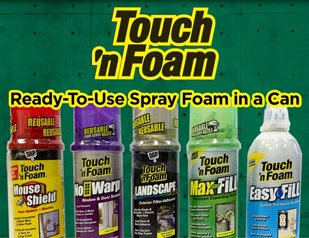 Touch 'n Foam - Ready-to-use foam in a can