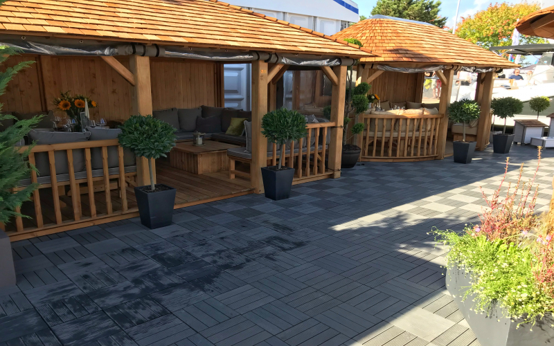 AB Composite Decking Tiles - Crown Pavilions, Southampton Boat Show 2018
