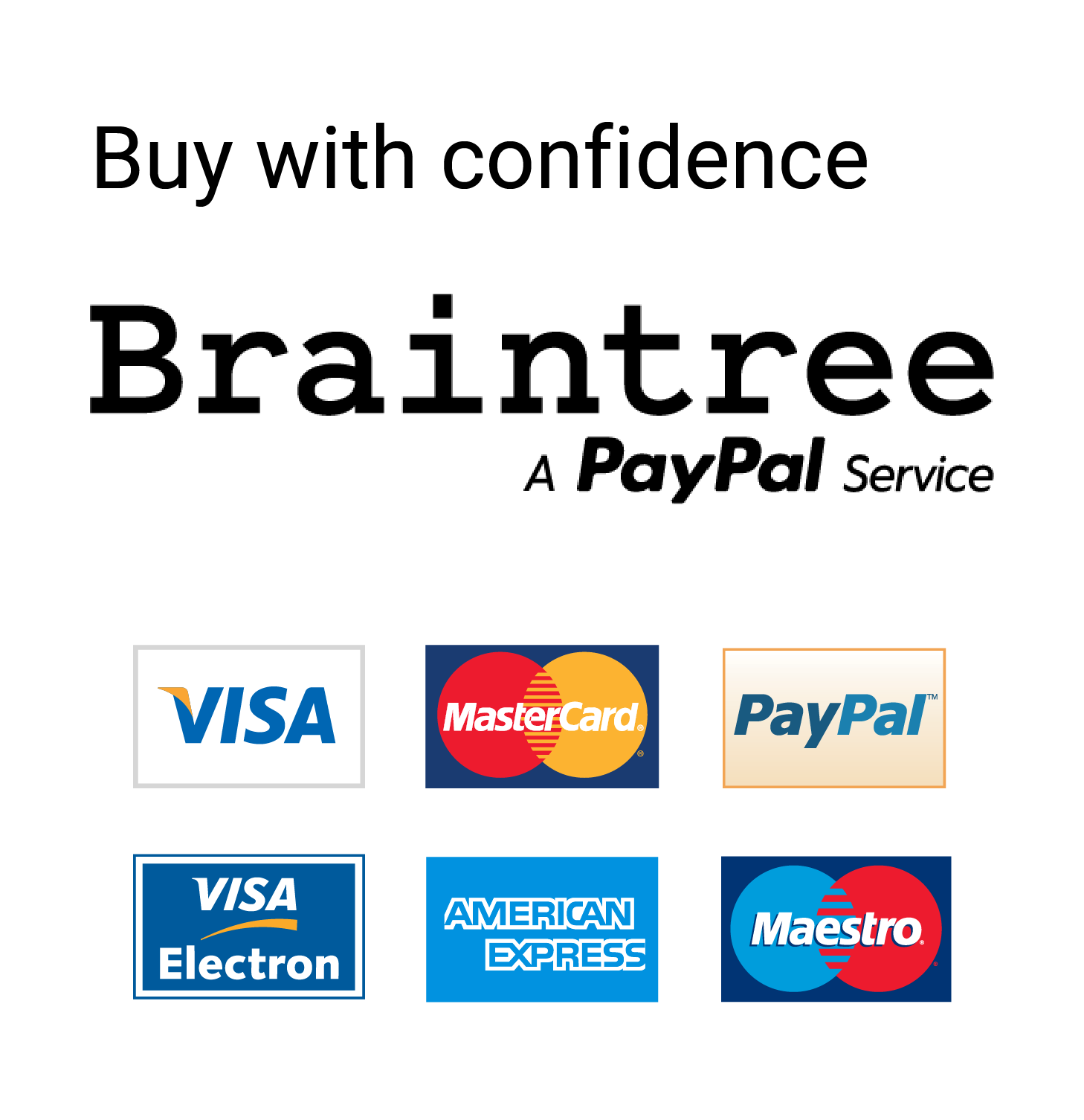 Buy with confidence with Braintree