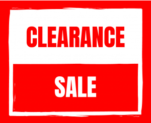Sale and Clearance Stock