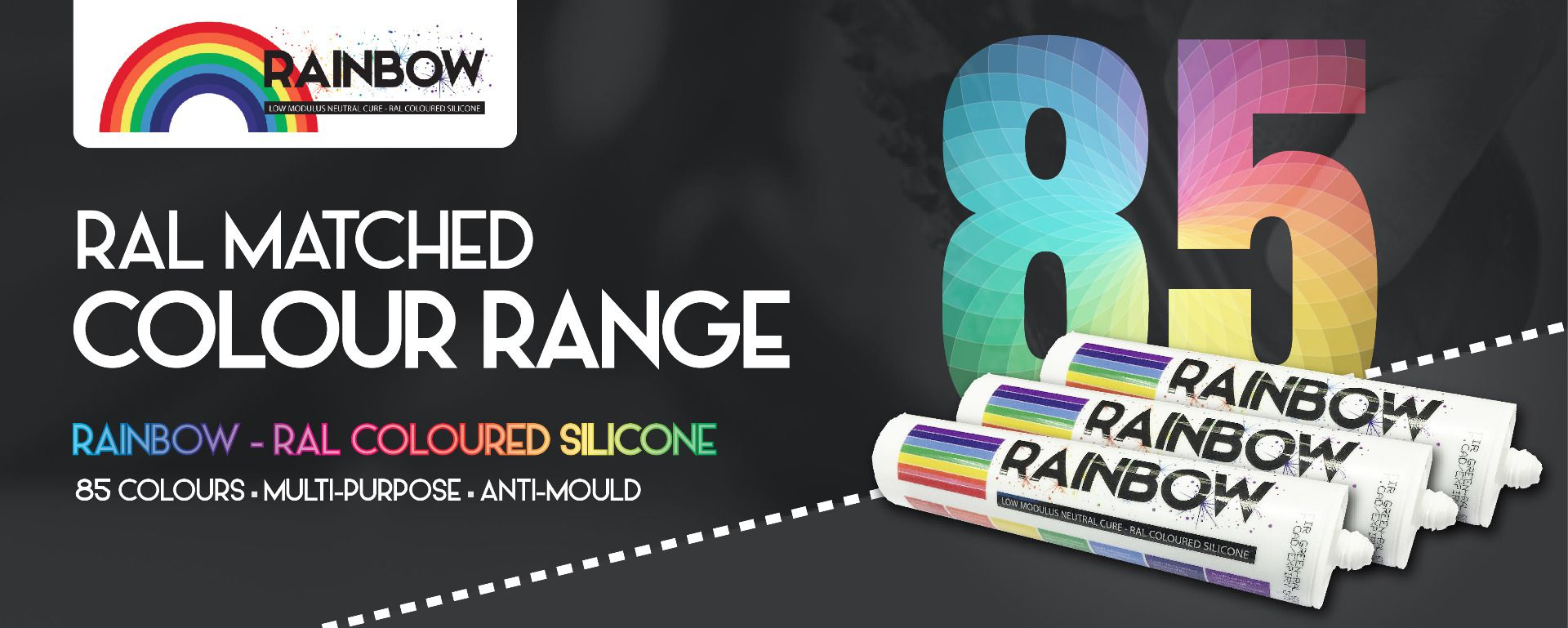 Rainbow Ral Coloured Silicones