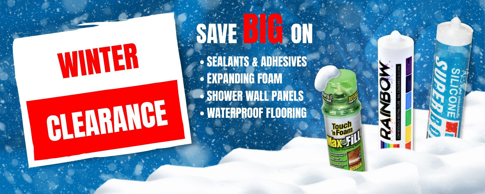 Winter Clearance Banner